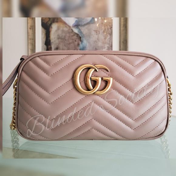 608abf41fcc0e7 Gucci Bags   Marmont Dusty Pink Nude Camera Crossbody Bag   Poshmark